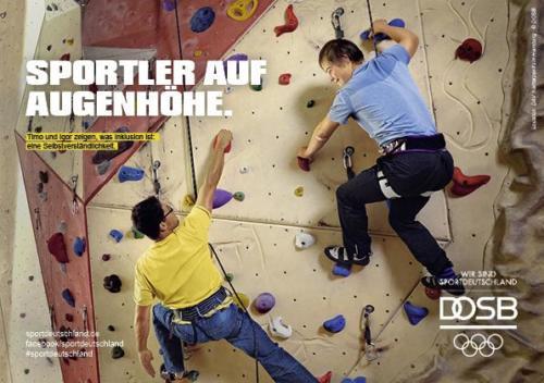DOSB Kampagne Inklusion Klettern Vorschau