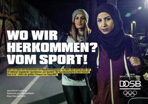 DOSB Kampagne Integration Berlinerinnen Ansicht