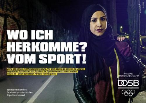 DOSB Kampagne Integration Zeina Ansicht